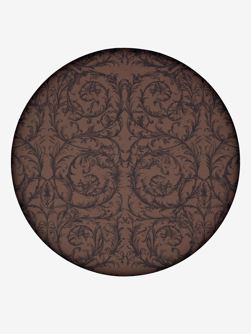 geschenkpapier klassisch braun motiv barock in schwarz grossrolle. Black Bedroom Furniture Sets. Home Design Ideas