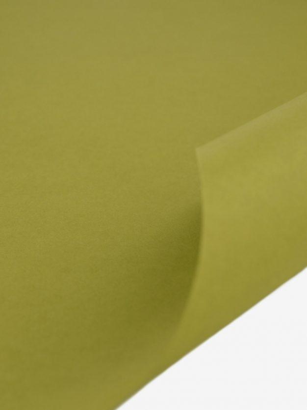 geschenkpapierbogen-gelb-olivgruen-uni