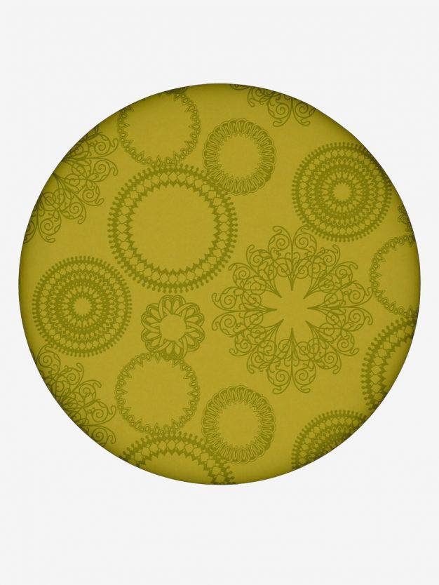geschenkpapier-gelb-olivgruen-mit-ornamente-gruen