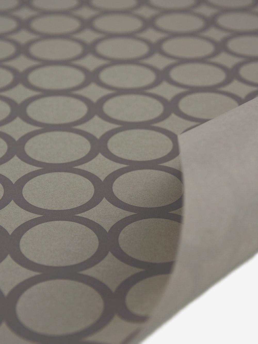 Geschenkpapierbogen Taupe Mit Ringe Grau