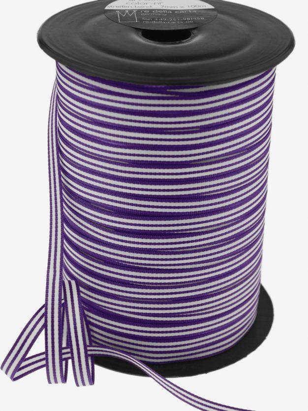 streifenband-gewebt-lila-weiss-schmal-hochwertig