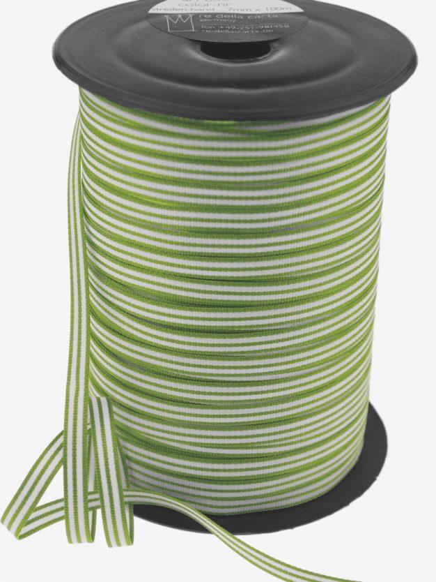 streifenband-gewebt-maigruen-weiss-schmal-hochwertig