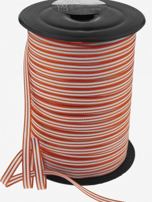 streifenband-gewebt-orange-weiss-schmal-hochwertig