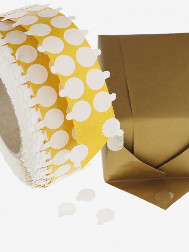 klebepunkte-doppelseitig-klebend-transparent-unsichtbar-schoen-verpacken