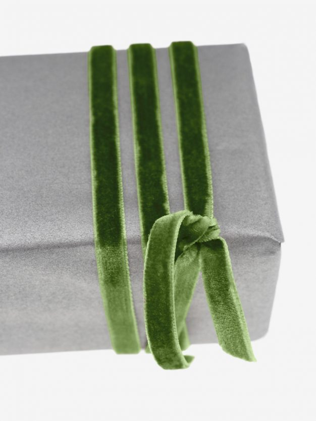 geschenkband-samt-gewebt-dunkelgruen-schimmernd-hochwertig