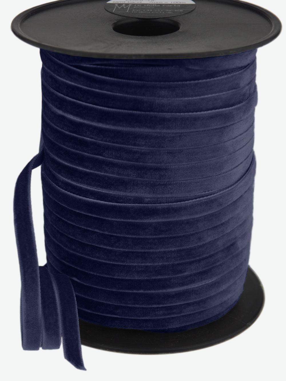 samtband-gewebt-dunkelblau-schimmernd-hochwertig