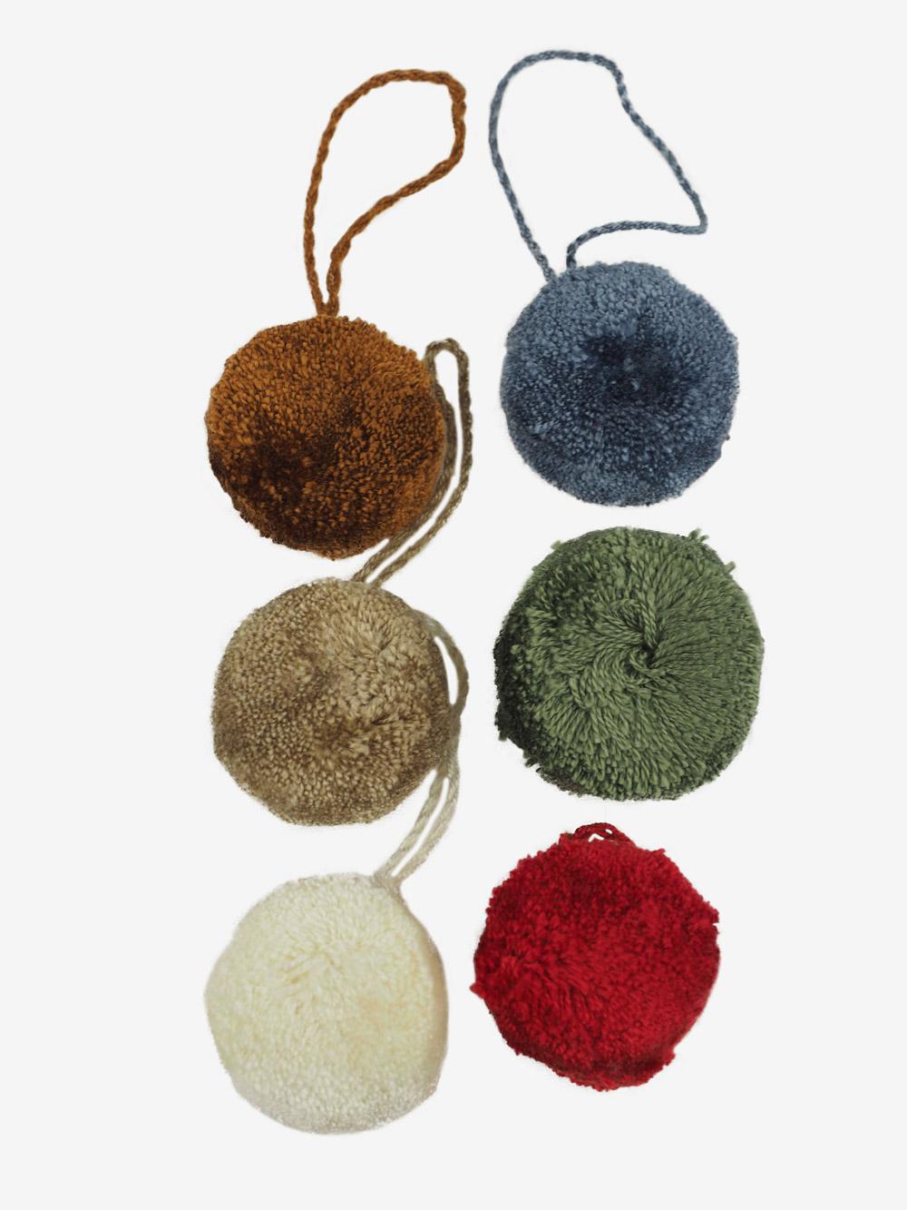 Deko Pompon Pompons Stoff Textil