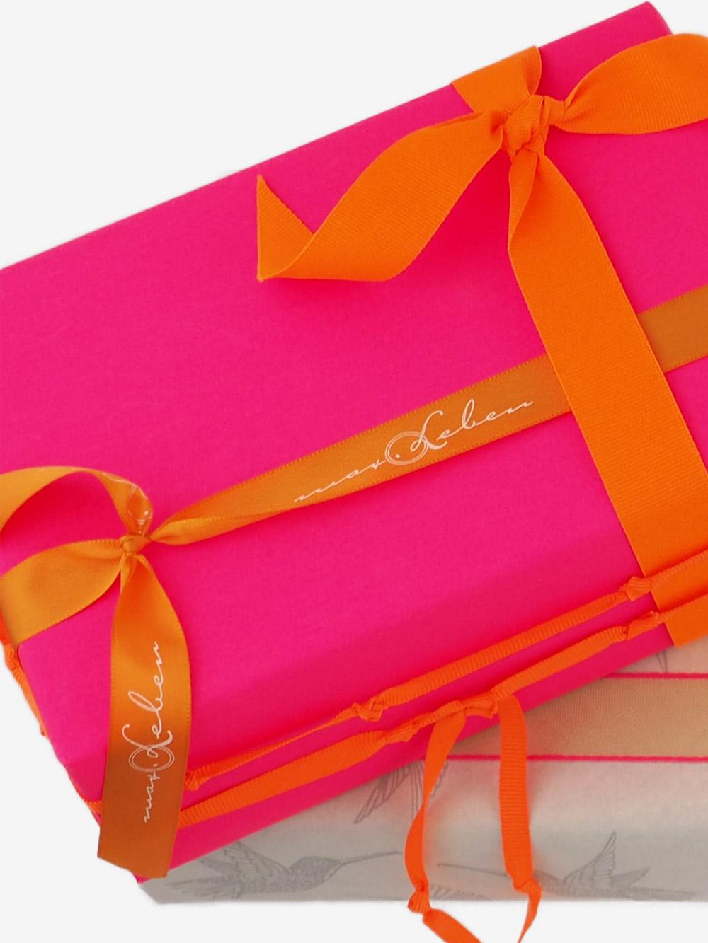 Geschenkpapier; Uni; neon; pink
