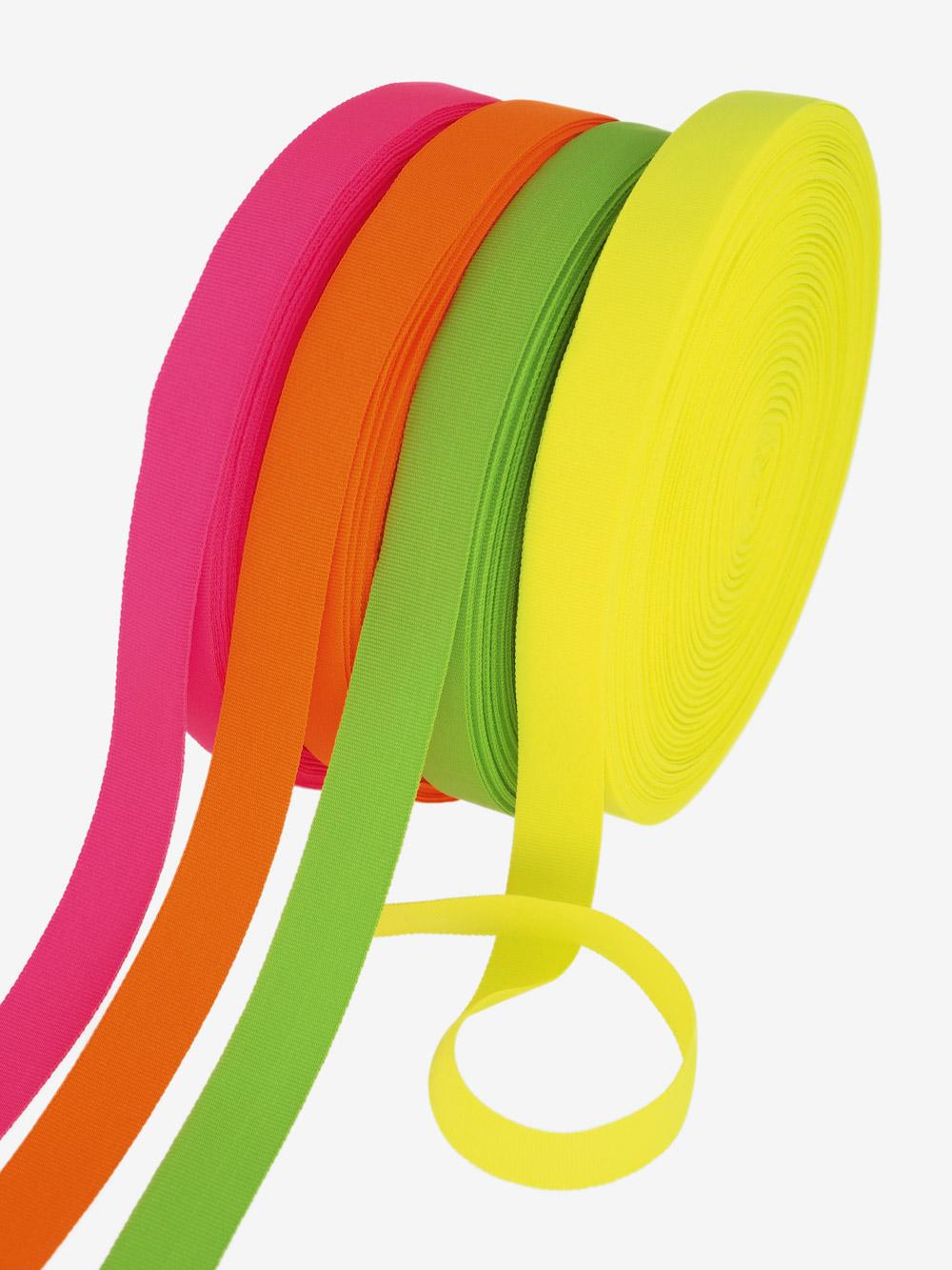 Geschenkband; Ripsband; neon