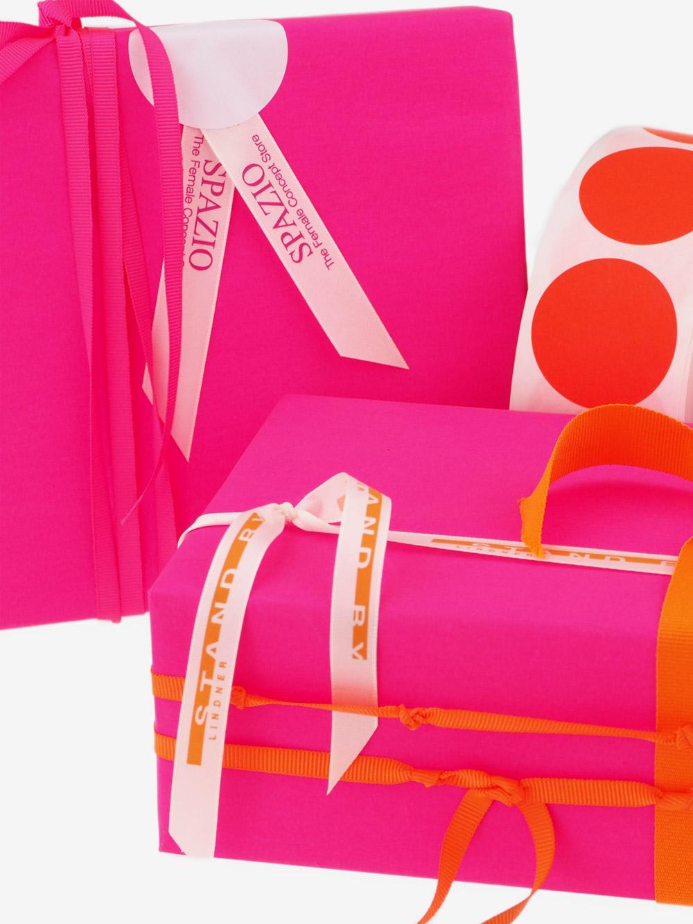 Geschenkpapier; Uni; pink